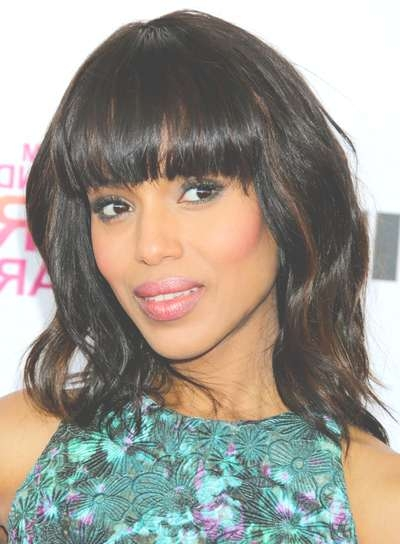 Medium, Tousled Hairstyles With Bangs – Beauty Riot Within Newest Tousled Medium Hairstyles (View 10 of 15)