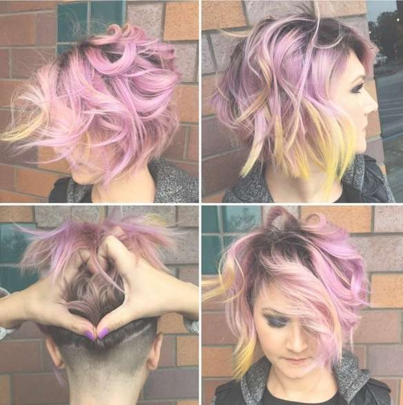 Messy, Layered Bob Hair Cuts – Shaved Hairstyles 2016 – Popular With 2018 Shaved Medium Hairstyles (View 6 of 25)