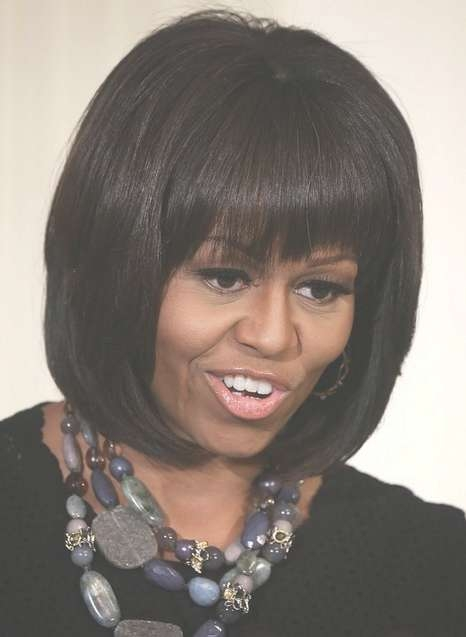 Michelle Obama Hairstyles: Classic Bob Haircut For Short Hair Pertaining To Classic Bob Hairstyles (View 21 of 25)