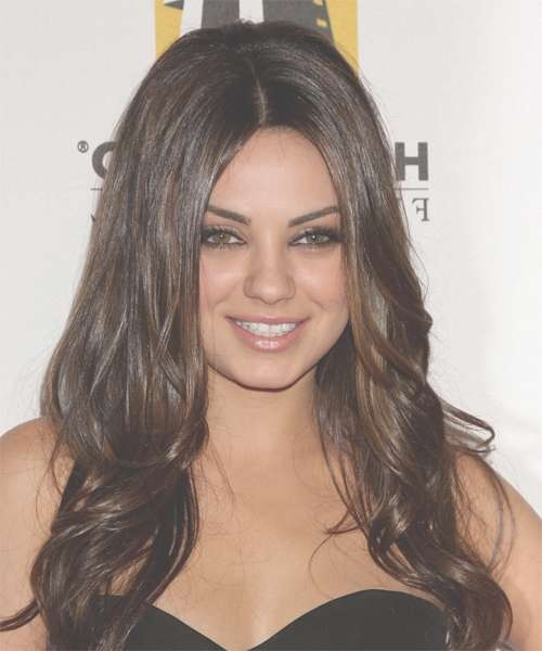 Mila Kunis Long Wavy Formal Hairstyle For Current Mila Kunis Medium Hairstyles (View 11 of 25)