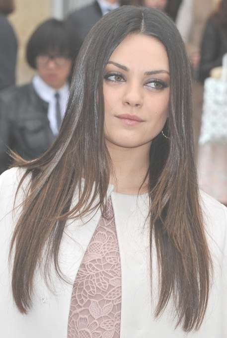 Mila Kunis, Ombre Long Hairstyles For Straight Hair – Popular Haircuts With Regard To Current Mila Kunis Medium Hairstyles (View 8 of 25)