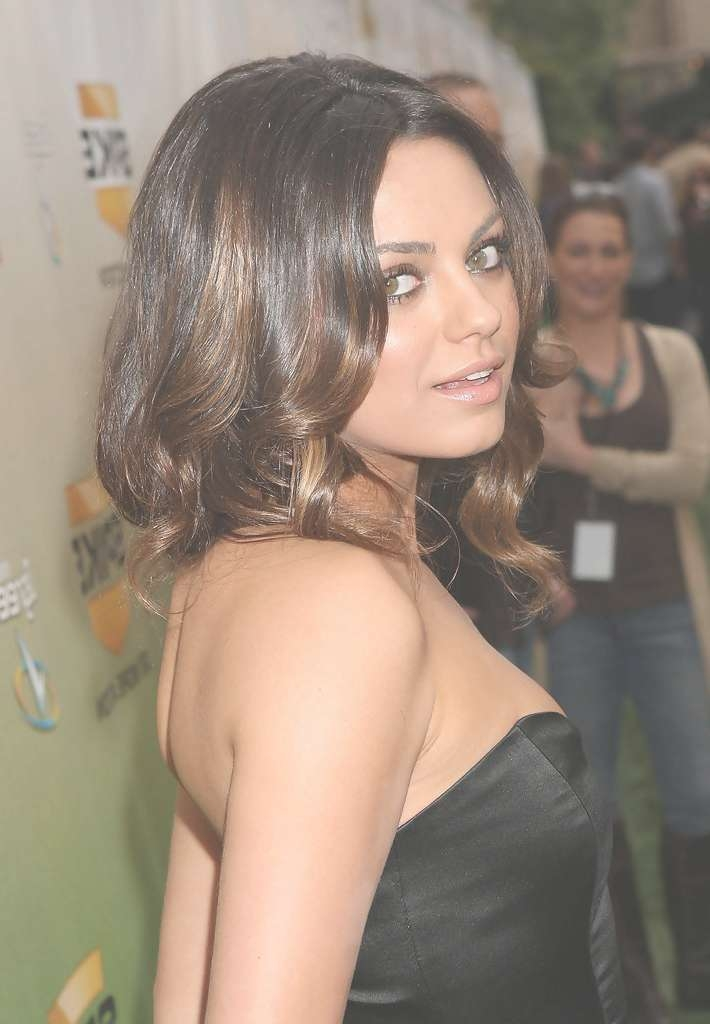 Mila Kunis Shoulder Length Hairstyles – Mila Kunis Hair – Stylebistro With Regard To Most Recently Mila Kunis Medium Hairstyles (View 17 of 25)