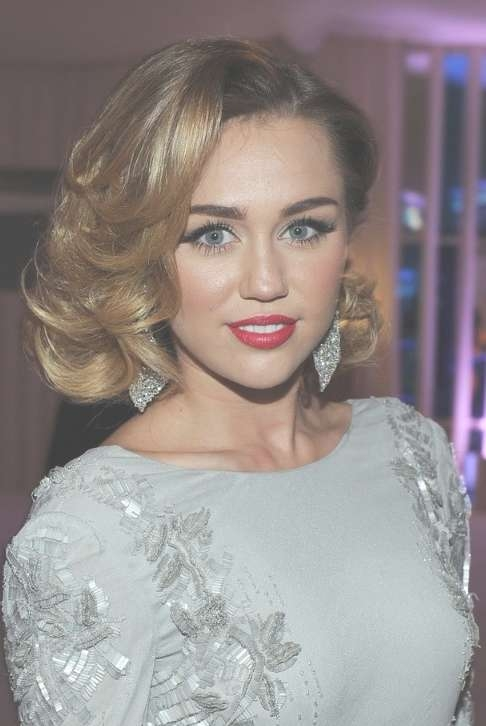Miley Cyrus Medium Curly Hairstyles 2012: Elegant! – Hairstyles Weekly For Most Up To Date Medium Haircuts Like Miley Cyrus (View 12 of 25)