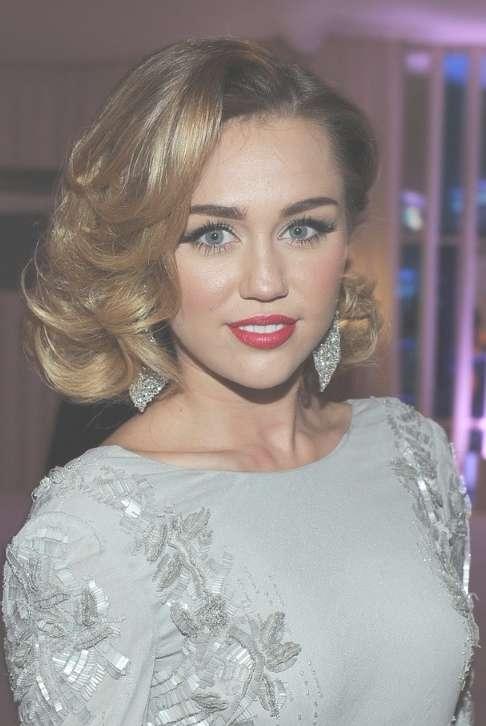 Miley Cyrus Medium Curly Hairstyles 2012: Elegant! – Hairstyles Weekly Regarding Current Miley Cyrus Medium Hairstyles (View 4 of 25)