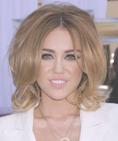 Miley Cyrus Medium Straight Formal Bob Hairstyle – Light Brunette Pertaining To 2018 Miley Cyrus Medium Hairstyles (View 7 of 25)