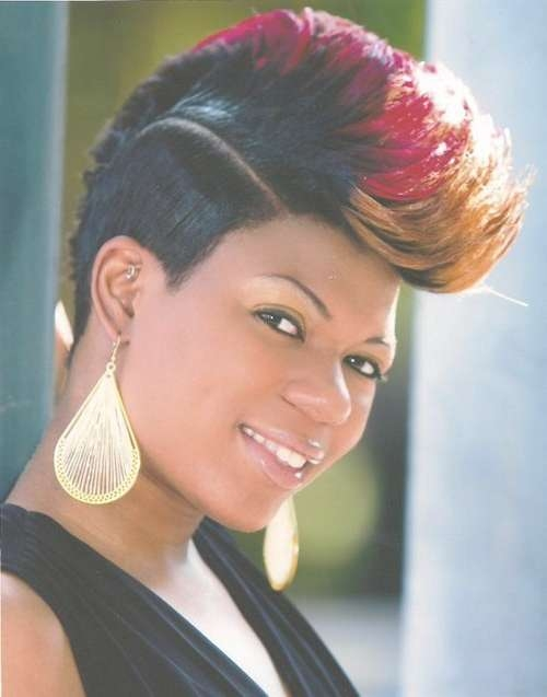 Mohawk Hairstyles For Black Women – Both Short And Long Hair Throughout Recent Mohawk Medium Hairstyles For Black Women (View 12 of 15)