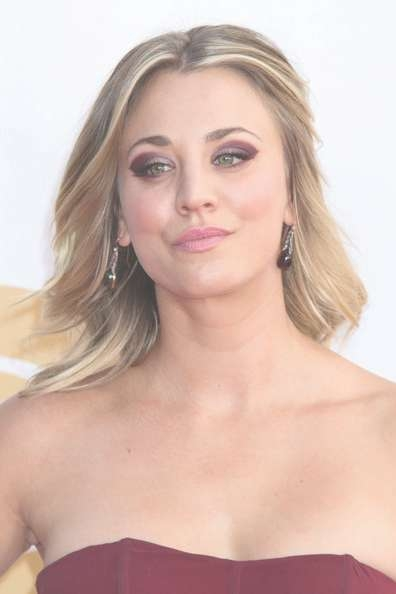 More Pics Of Kaley Cuoco Medium Curls (3 Of 8) – Shoulder Length With 2018 Kaley Cuoco Medium Hairstyles (View 15 of 15)