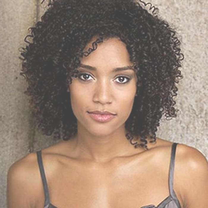 2018 Latest Curly Black Medium Hairstyles