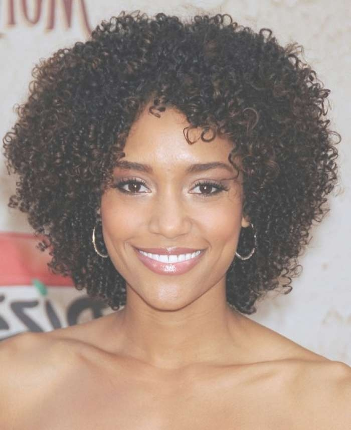 Most Adorable Ideas Of Black Natural Curly Hairstyles Regarding Most Recently Medium Haircuts For Curly Black Hair (View 19 of 25)
