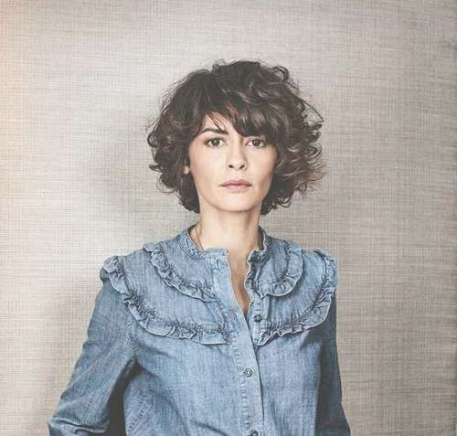 Most Beloved Curly And Short Hairstyles For Ladies | Short Inside Recent Audrey Tautou Medium Haircuts (View 21 of 25)