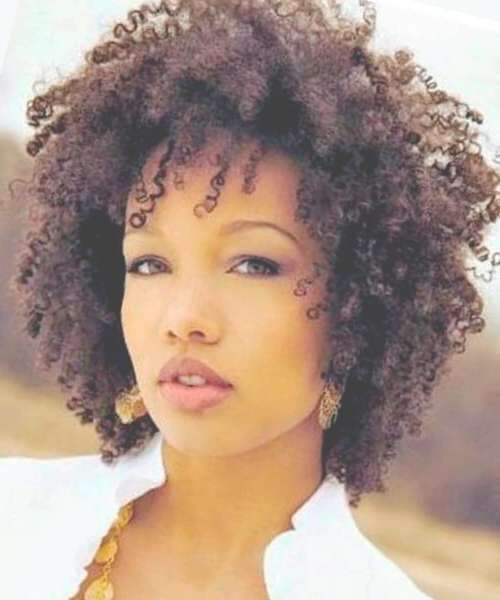 Natural Hairstyles For African American Women And Girls Inside 2018 Afro Medium Haircuts (View 7 of 25)