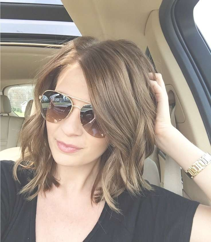 Natural Medium Length Cool Hairstyles Pertaining To Recent Medium Hairstyles With Glasses (View 7 of 25)