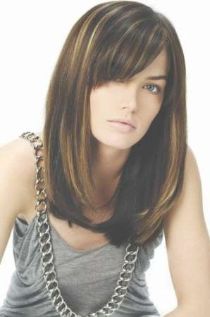 Explore Gallery of Layered Medium Haircuts With Side Bangs (Showing ...