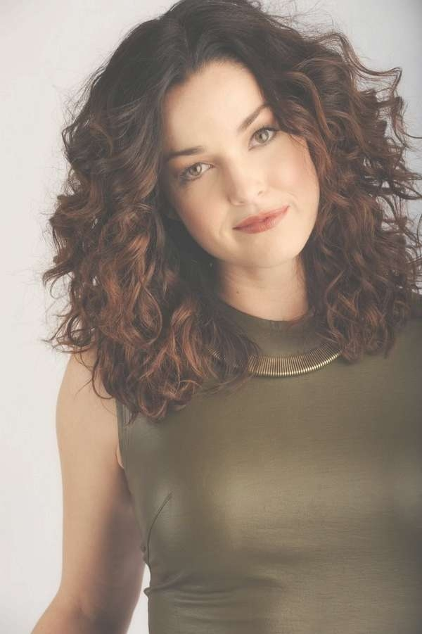 Nice Haircuts For Thick Curly Medium Length Hair In Most Up To Date Medium Haircuts Curly Hair Round Face (View 21 of 25)