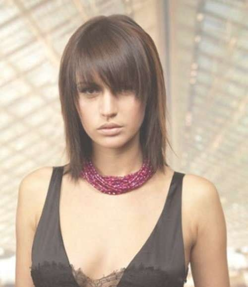 Nice Short Straight Hairstyles With Bangs | Short Hairstyles 2016 Inside Most Recent Medium Hairstyles With Straight Bangs (View 19 of 25)
