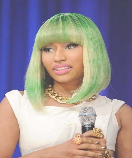 Nicki Minaj Hairstyles With Regard To Latest Nicki Minaj Medium Haircuts (View 4 of 25)