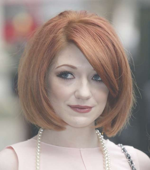 Nicola Roberts Classic Short Bob Haircut With Side Bangs With Regard To Classic Bob Hairstyles (View 22 of 25)