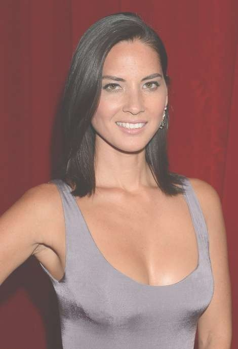 Olivia Munn Medium Hairstyle: Black Straight Haircut – Pretty Designs Intended For Most Popular Black Medium Hairstyles (View 12 of 15)