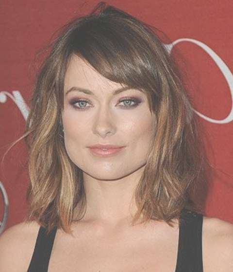 Olivia Wilde Hairstyles: Messily-Tousled Medium Hairstyle - Pretty intended for Most Up-to-Date Tousled Medium Hairstyles