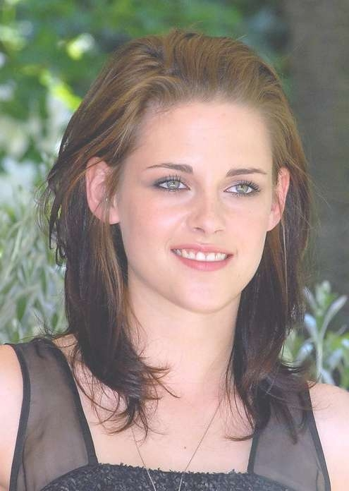 Ombre Medium Length Layered Hairstyle From Kristen Stewart Regarding Most Popular Kristen Stewart Medium Hairstyles (View 2 of 15)