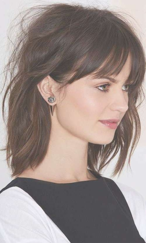 View Photos of Medium Hairstyles With Short Bangs (Showing 7 of 25 ...