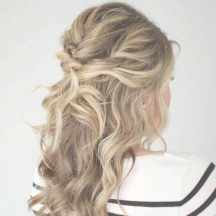 Our Favorite Prom Hairstyles For Medium Length Hair | More Regarding Newest Half Up Medium Hairstyles (View 16 of 25)