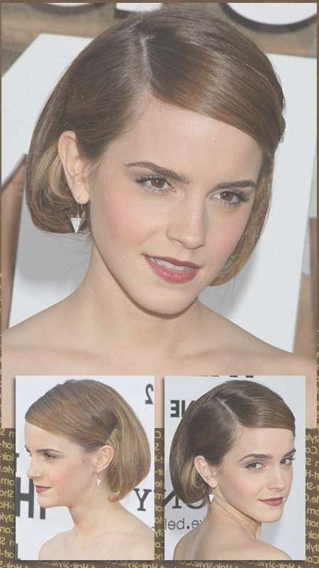 Party Hair Style With Faux Bob Updo Pertaining To Bob Hair Updo (View 9 of 25)