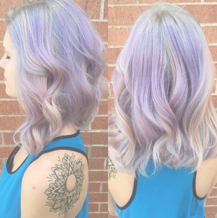 Pastel Hair Color Ideas Medium Pastel Purple Hairstyle – Pretty For Newest Purple Medium Hairstyles (View 11 of 25)