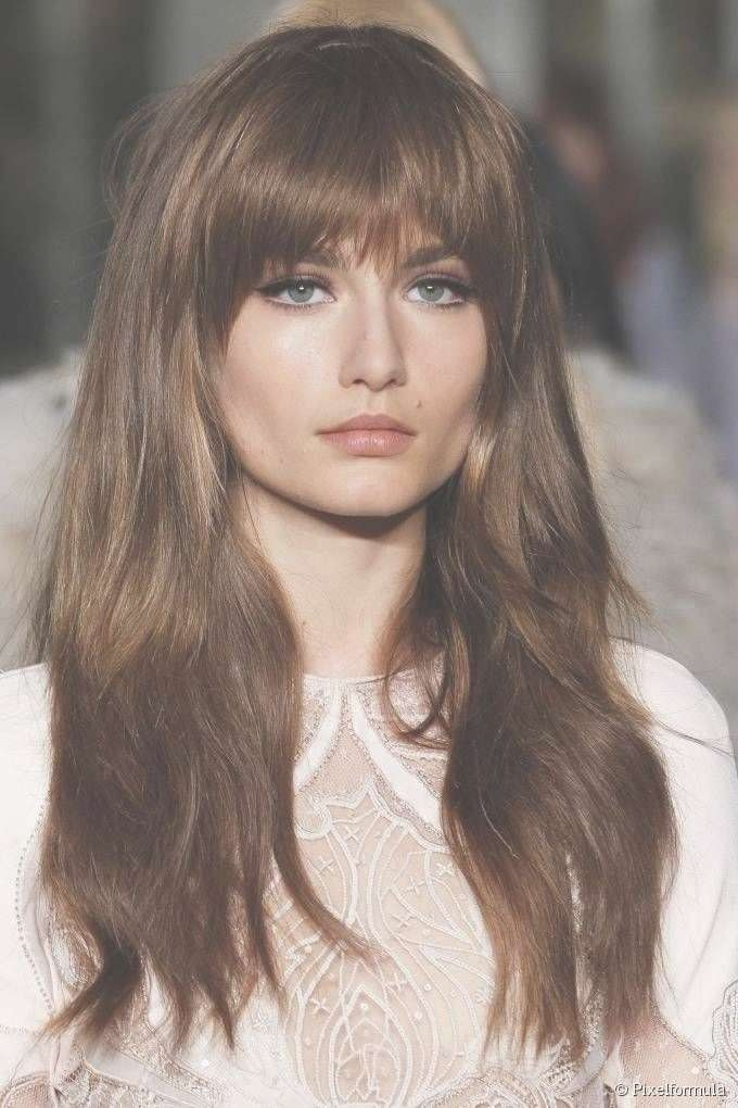Photo Gallery Of Long Hairstyles Updos With Fringe (Viewing 9 Of Inside Most Current Long Hairstyle With Fringe (View 11 of 25)