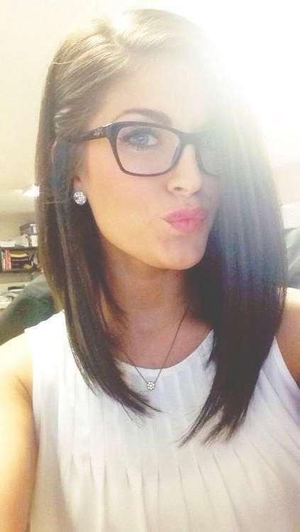 Photo Gallery Of Long Hairstyles With Glasses (Viewing 10 Of 15 Within Newest Medium Haircuts With Glasses (View 13 of 25)