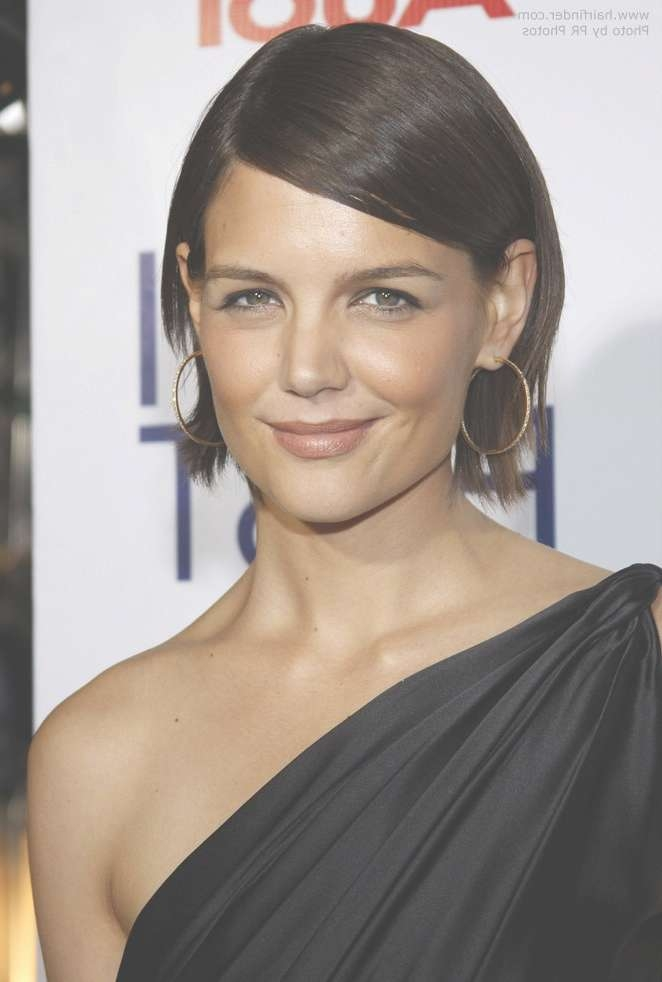 Photos Of Katie Holmes New Bob Hairstyle With Bob Haircuts Tucked Behind The Ears (View 6 of 25)