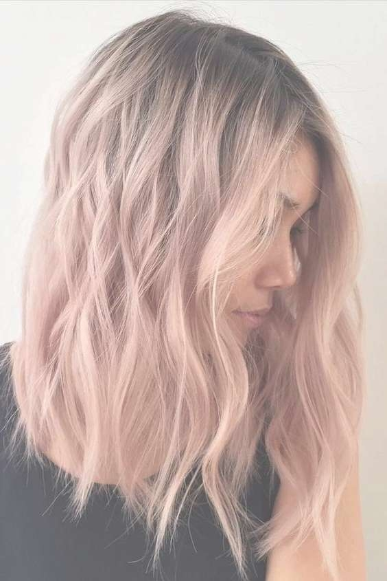 Pink, Ombre Medium Hairstyles – Hair Color Inspiration Designs For Within Current Pink Medium Haircuts (View 2 of 25)