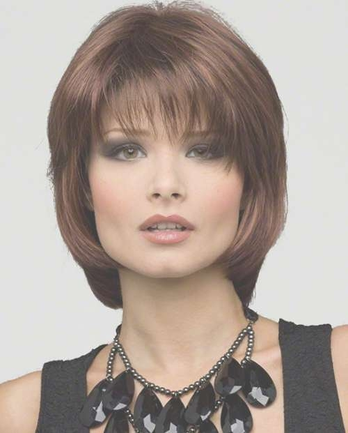 Pretty Mid Length Hairstyles With Bangs For Square Shape Face Intended For Latest Medium Hairstyles For Square Faces With Bangs (View 24 of 25)