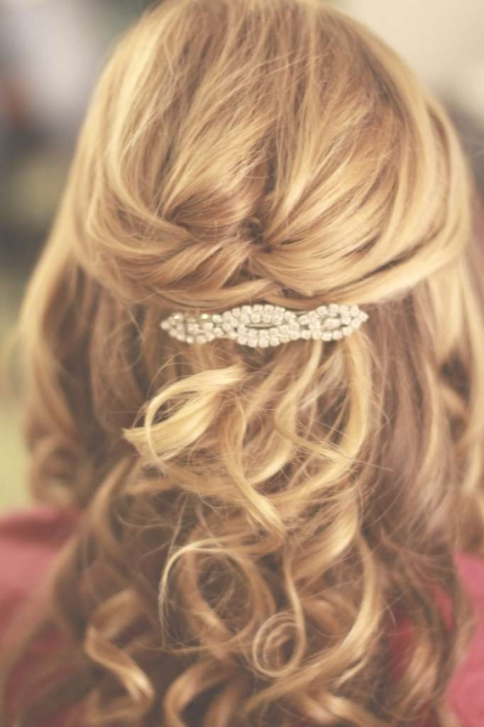 Prom Hairstyles For Medium Hair Half Up Half Down – Beautiful Long With Most Popular Wedding Half Up Medium Hairstyles (View 14 of 25)