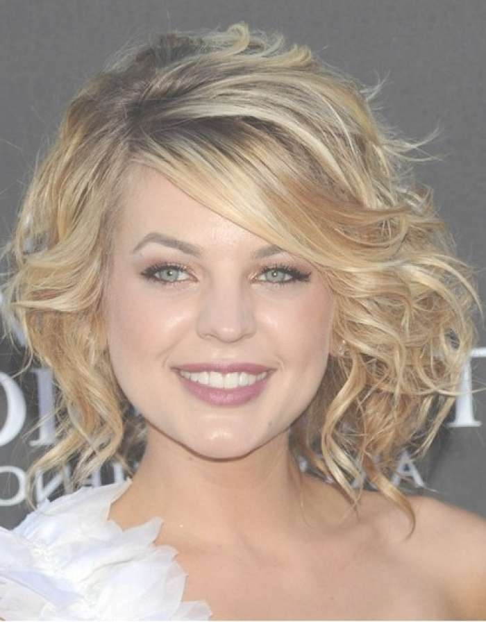Prom Hairstyles For Round Faces And Medium Hair Pertaining To 2018 Medium Haircuts For Round Faces With Curly Hair (View 6 of 25)
