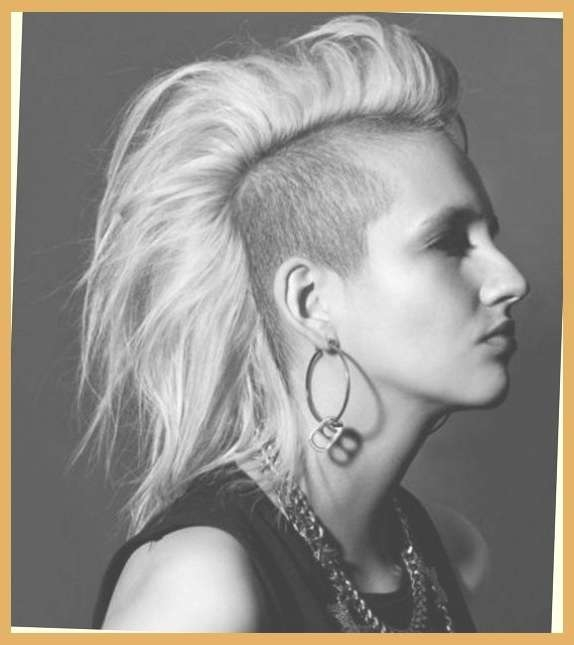 Punk Medium Hairstyles | Side Shaved Punk Hairstyles For Women For In Most Current Medium Hairstyles With Shaved Sides For Women (View 13 of 15)