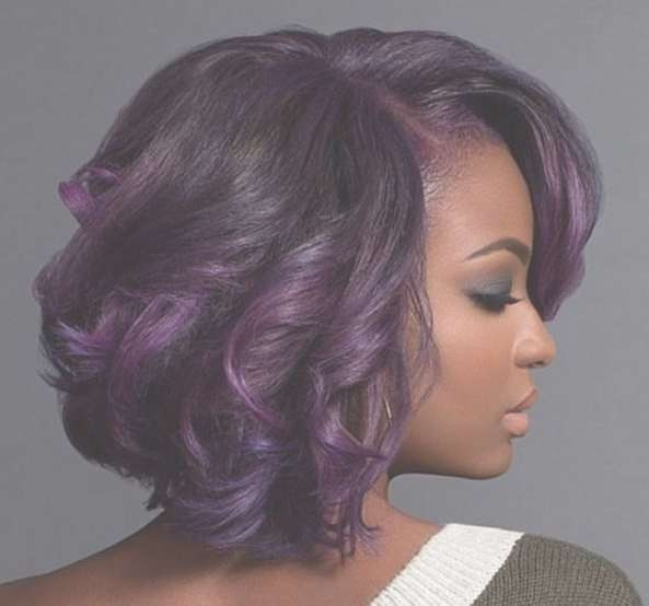 Purple And Fab! With @macleantemu – Http://community Within Most Recent Purple And Black Medium Hairstyles (View 15 of 15)