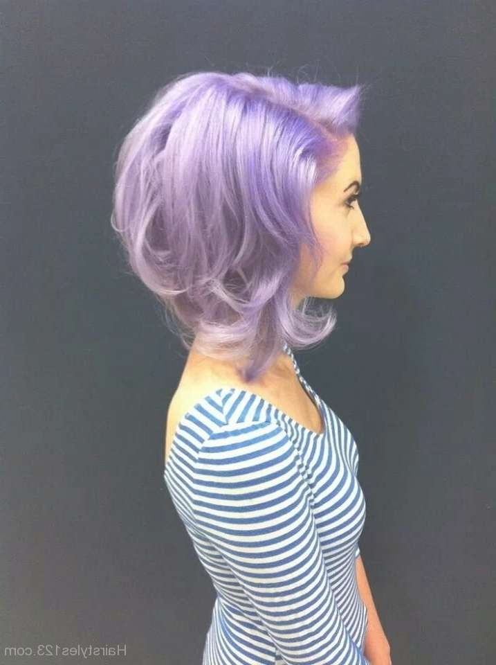 Featured Photo of Purple Medium Hairstyles