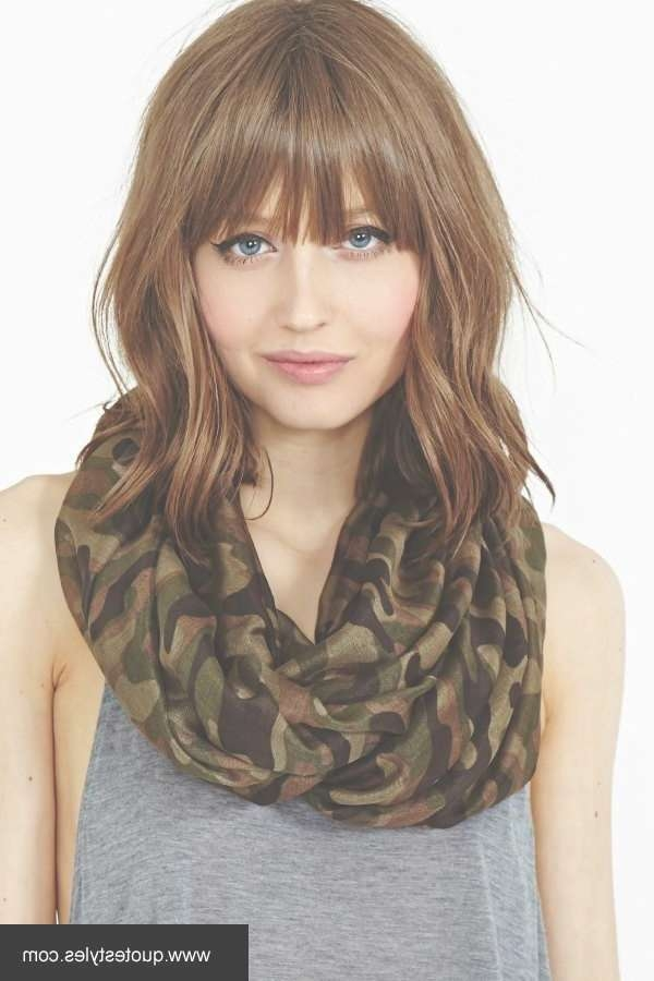 Quick Medium Length Hair Styles With Bangs 2017 Throughout Most Recent Medium Haircuts Styles With Bangs (View 2 of 25)