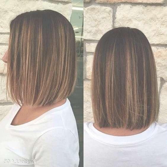 Really Simple Bob Haircut Medium Length Layered Hairstyles For One Length Bob Haircuts (View 2 of 25)