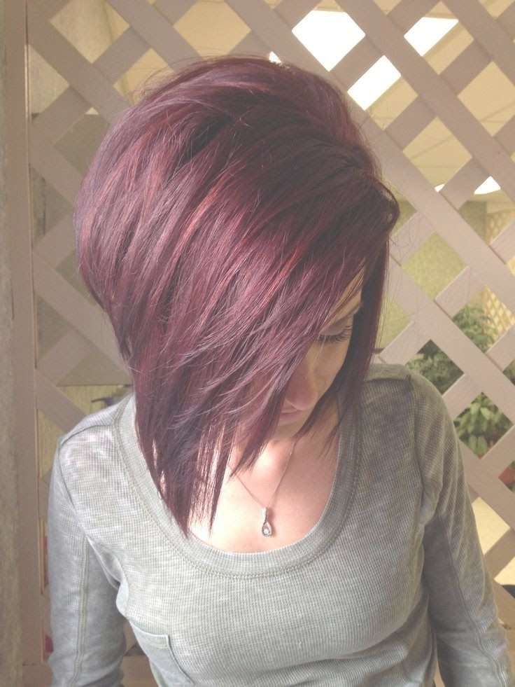 Red Bob With Purple Tints – Hairstyles Weekly Inside Most Up To Date Purple Medium Hairstyles (View 10 of 25)