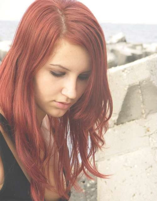 Red Hairstyles Medium Length Within Current Medium Hairstyles For Red Hair (View 5 of 25)