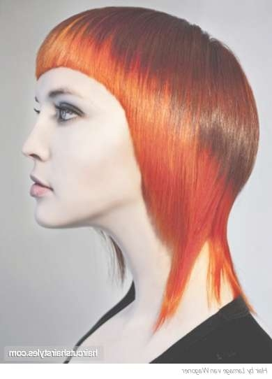 Red Medium Hairstyle Throughout Latest Red Medium Hairstyles (View 21 of 25)