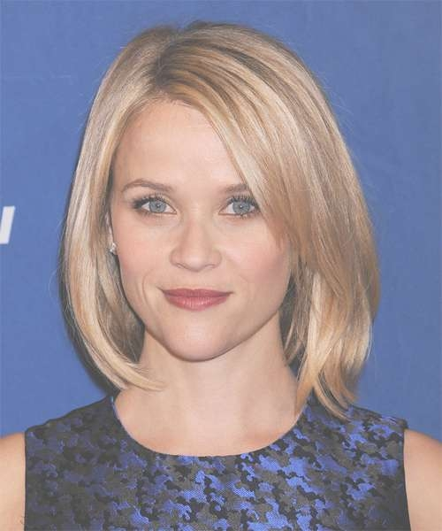 Reese Witherspoon Hairstyles: Celebrity Spotlight Intended For Most Up To Date Medium Hairstyles For Pointy Chins (View 13 of 15)