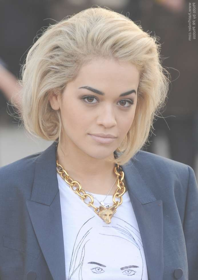 Rita Ora | Faux Asymmetrical Bob Pertaining To Most Popular Rita Ora Medium Hairstyles (View 14 of 15)