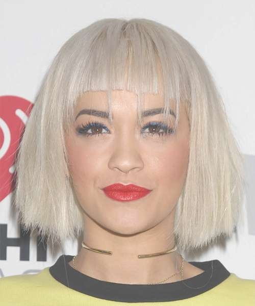 Rita Ora Hairstyles In 2018 Throughout Recent Rita Ora Medium Hairstyles (View 11 of 15)