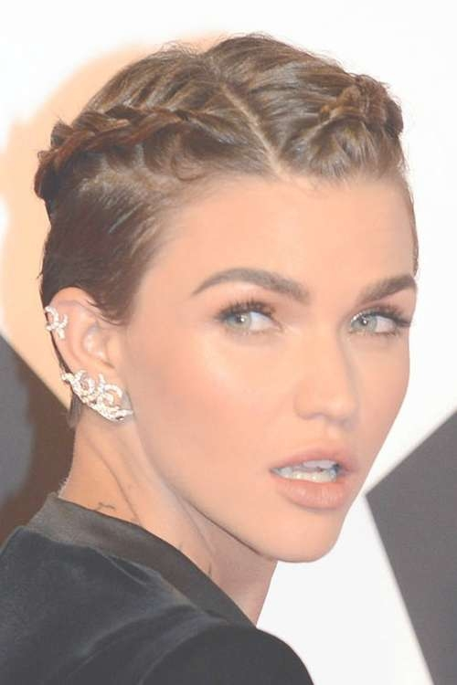 Ruby Rose Straight Medium Brown Braids Hairstyle | Steal Her Style Throughout Recent Ruby Rose Medium Hairstyles (View 10 of 15)