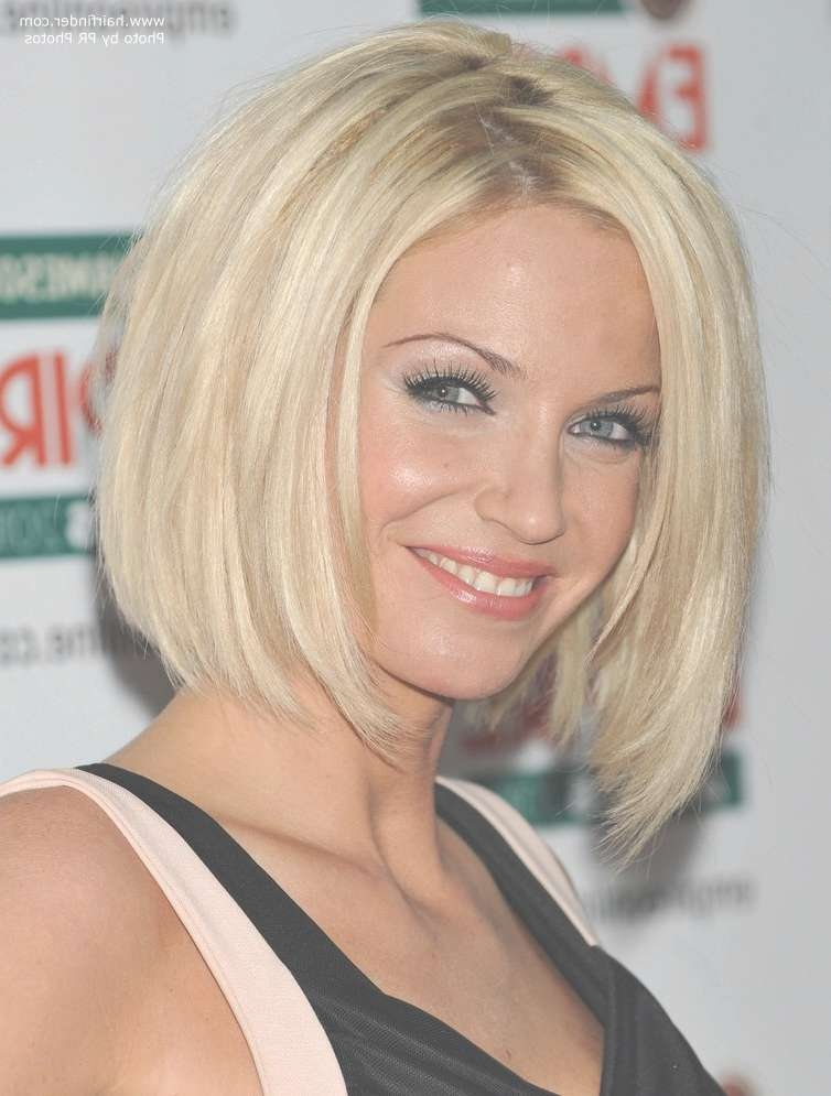 Sarah Harding | Bob Haircut With Sides That Fall Under The Chin Line With Regard To Full Bob Haircuts (View 15 of 25)