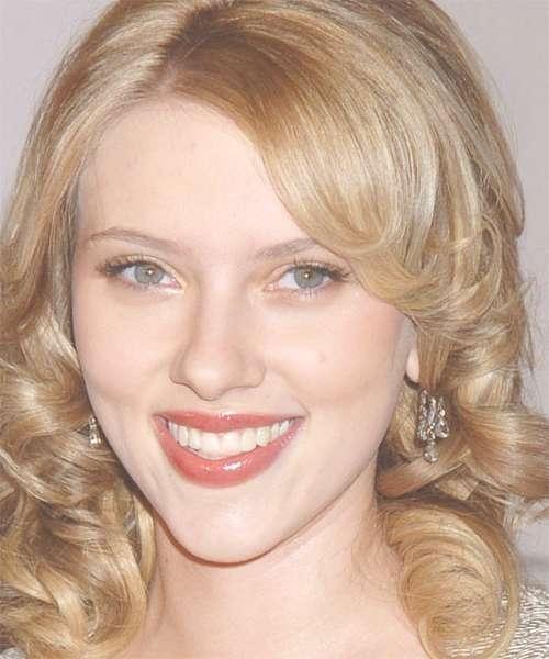 Scarlett Johansson Medium Curly Formal Hairstyle Throughout Recent Scarlett Johansson Medium Haircuts (View 17 of 25)