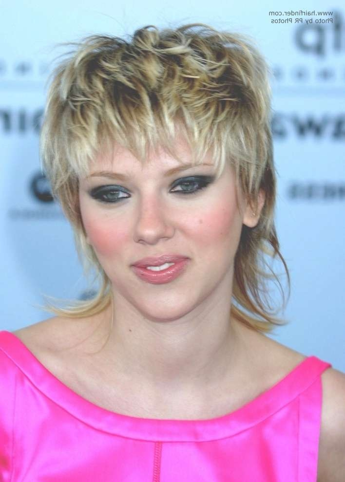 Scarlett Johansson | Shaggy 80S Hairstyle With A Long Textured Neck Within Most Up To Date Scarlett Johansson Medium Haircuts (View 23 of 25)